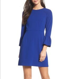 Royal blue ruffle sleeve dress, worn only once
